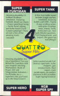 Quattro Super Hits Commodore 64 Inside Cover