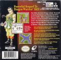 Dragon Warrior III Game Boy Color Back Cover