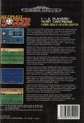 Ultimate Soccer Genesis Back Cover