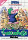 Lemmings SEGA Master System Front Cover
