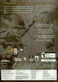 Call of Duty 2 (Collector's Edition) Windows Other Keep Case - Back