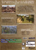 Age of Empires III (Collector's Edition) Windows Other Keep Case - Back