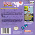 Kirby Tilt 'n' Tumble Game Boy Color Back Cover