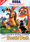 The Lucky Dime Caper starring Donald Duck SEGA Master System Front Cover