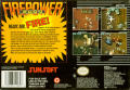 Firepower 2000 SNES Back Cover