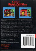 Split Personalities Amstrad CPC Back Cover
