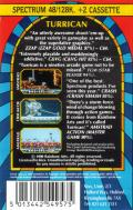 Turrican ZX Spectrum Back Cover