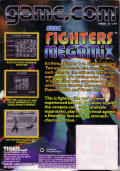 Fighters Megamix Game.Com Back Cover
