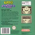 Kirby's Pinball Land Game Boy Back Cover