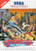 Streets of Rage SEGA Master System Front Cover