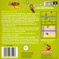 Mario Tennis Game Boy Color Back Cover