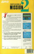 Impossible Mission II DOS Back Cover