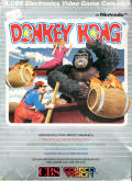 Donkey Kong ColecoVision Front Cover