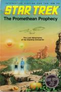 Star Trek: The Promethean Prophecy DOS Front Cover Box in book form. You can open it in the middle