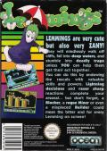 Lemmings NES Back Cover