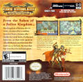 Fire Emblem: The Sacred Stones Game Boy Advance Back Cover
