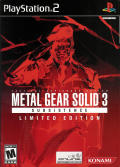 Metal Gear Solid 3: Subsistence (Limited Edition) PlayStation 2 Front Cover
