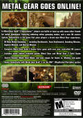 Metal Gear Solid 3: Subsistence PlayStation 2 Back Cover
