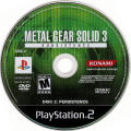 Metal Gear Solid 3: Subsistence PlayStation 2 Media Disc 2 - Persistence