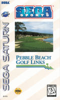 Pebble Beach Golf Links SEGA Saturn Front Cover