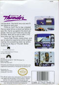 Days of Thunder NES Back Cover
