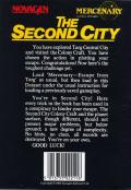 Mercenary: Escape from Targ - The Second City Atari 8-bit Back Cover