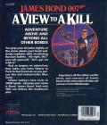 James Bond 007: A View to a Kill DOS Back Cover