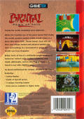 Brutal: Paws of Fury Genesis Back Cover