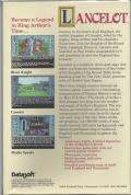 Lancelot Amiga Back Cover