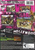 Tony Hawk's American Wasteland Xbox Back Cover