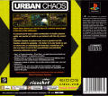 Urban Chaos PlayStation Back Cover