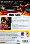 Rockstar Games presents Table Tennis Xbox 360 Back Cover