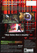 Ninja Gaiden Black Xbox Back Cover