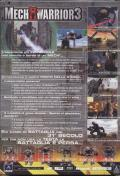 MechWarrior 3 Windows Back Cover