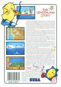 The New Zealand Story SEGA Master System Back Cover