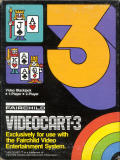 Videocart-3: Video Blackjack Channel F Front Cover