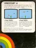 Videocart-4: Spitfire Channel F Back Cover