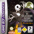 Tim Burton's The Nightmare Before Christmas: The Pumpkin King Game Boy Advance Front Cover