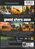 Grand Theft Auto: San Andreas Xbox Back Cover Second Edition