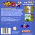 Wario Land 3 Game Boy Color Back Cover