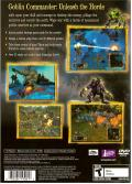 Goblin Commander: Unleash the Horde PlayStation 2 Back Cover