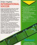 Emlyn Hughes International Soccer Atari ST Back Cover