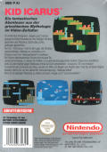 Kid Icarus NES Back Cover