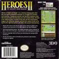 Heroes of Might and Magic II Game Boy Color Back Cover