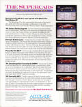 Test Drive II Car Disk: The Supercars Commodore 64 Back Cover