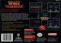 Space Invaders SNES Back Cover