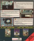 Murders in Space Amiga Back Cover