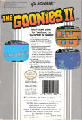 The Goonies II NES Back Cover