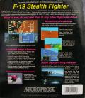 F-19 Stealth Fighter Atari ST Back Cover