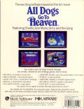 All Dogs Go to Heaven Amiga Back Cover